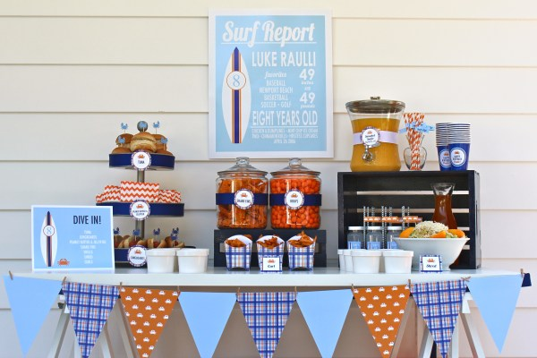 Surf's Up Party by Bloom Designs Online on Everyday Party Magazine