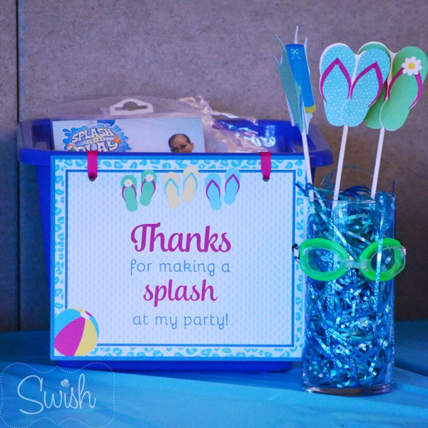 Tween Pool Party from SwishPrintables on Everyday Party Magazine
