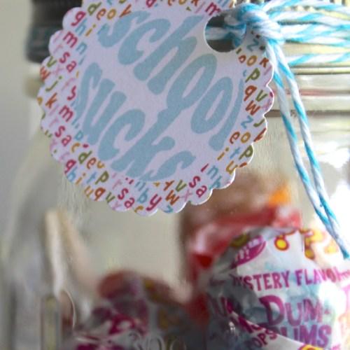 School Sucks Printable Lollipop Tags