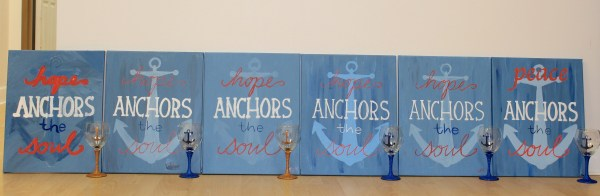 Hope Anchors the Soul Painting Party Everyday Party Magazine