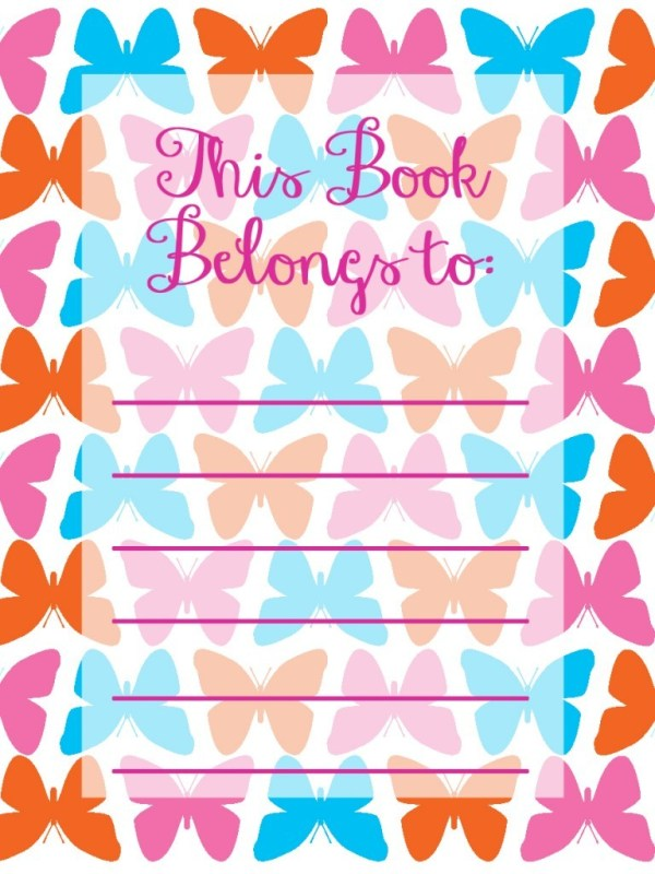 Back to School Book Plate Printables by DIY Modern Hostess