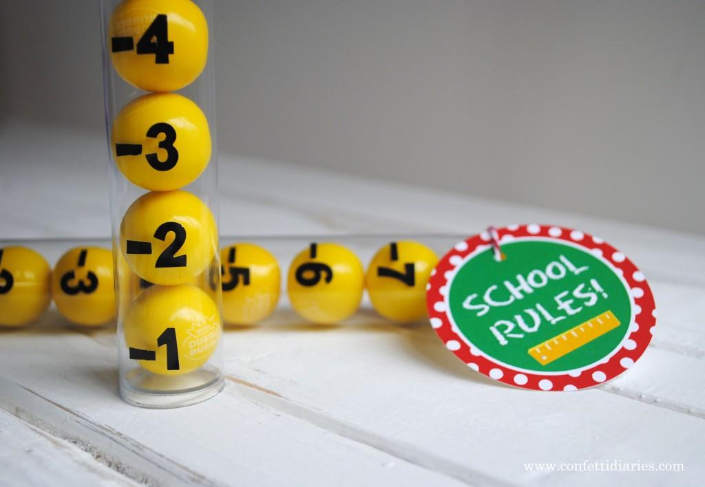 DIY Gum Ball Ruler by Katarina's Paperie