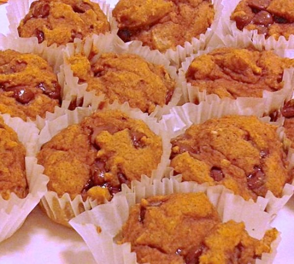 Everyday Party Magazine Pumpkin Chocolate Chip Pancake Muffins