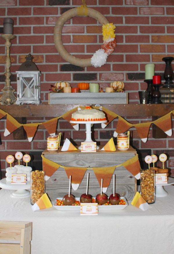 Party Gals Linky Party Everyday Party Magazine Candy Corn Halloween Celebration