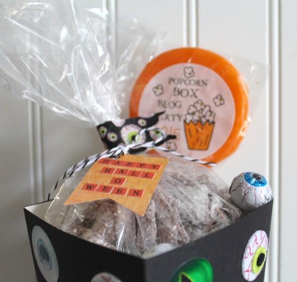 Everyday Party Magazine Popcorn Box Blog Hop Eyeball Double Crunch Recipe