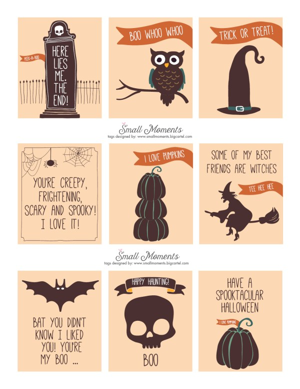 Everyday Party Magazine Halloween Printable Tags by Small Moments