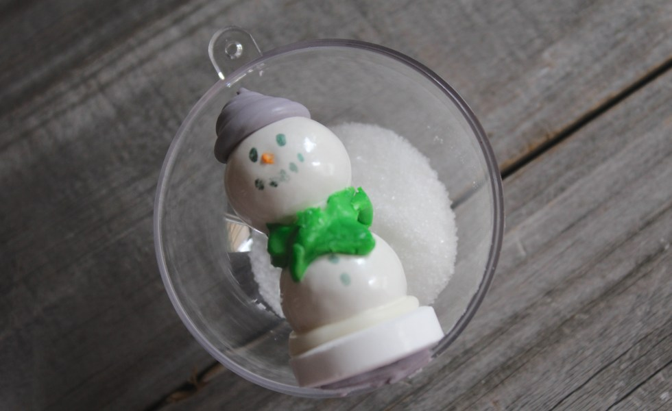 Everyday Party Magazine Gum Ball Snowman Ornaments DIY