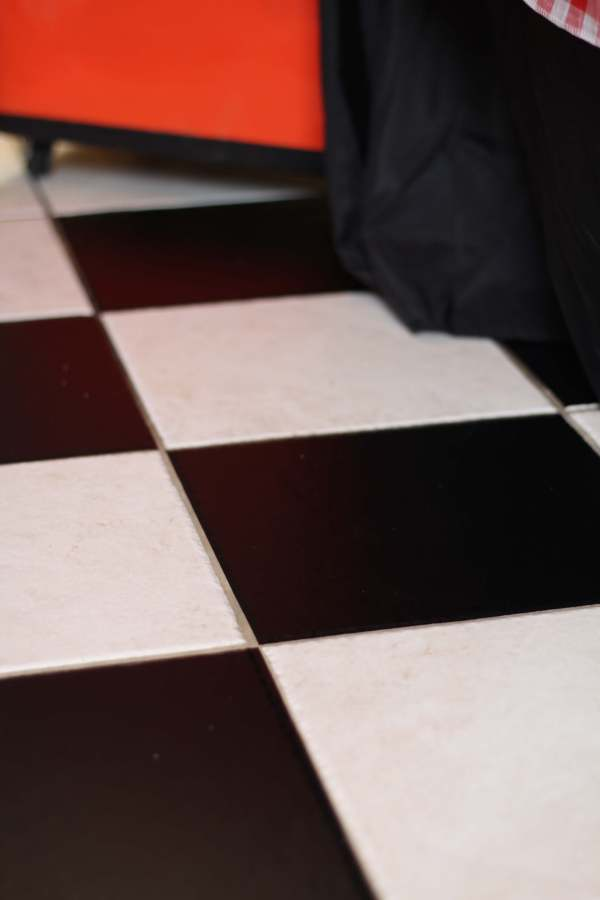 Everyday Party Magazine Simple Checkerboard Floor DIY