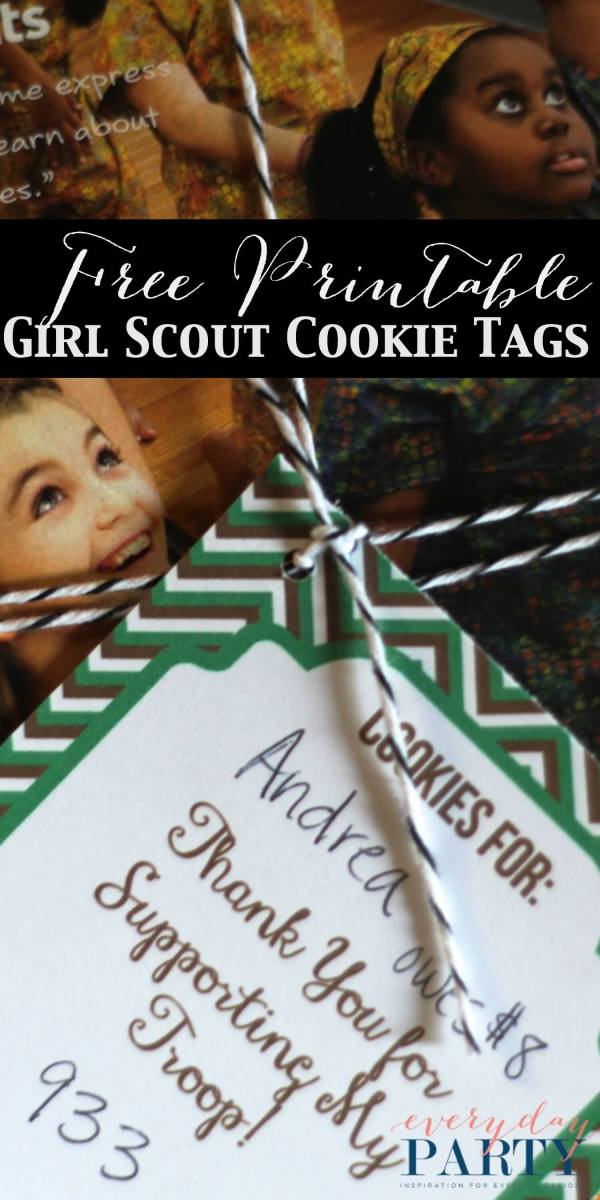 Girl Scout Cookie Tags by Two Penn Studio for Everyday Party Magazine