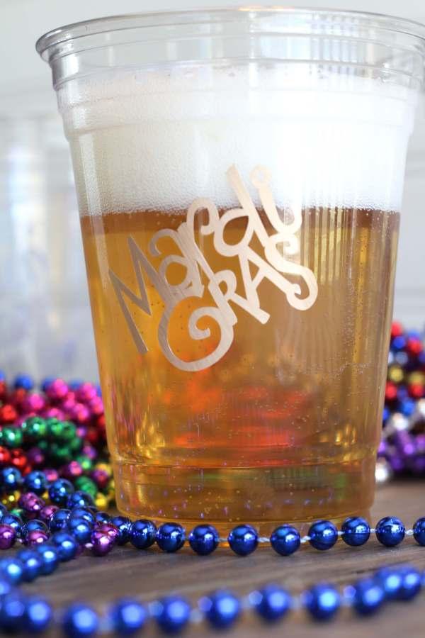 Everyday Party Magazine Simple DIY Mardi Gras Glasses
