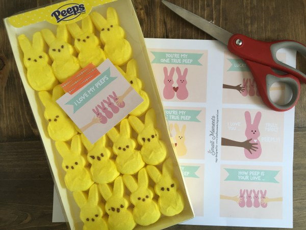 Everyday Party Magazine Free Printable Peeps Tag by Small Moments Designs