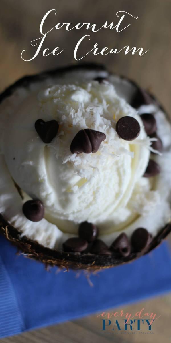 Everyday Party Magazine Coconut Ice Cream
