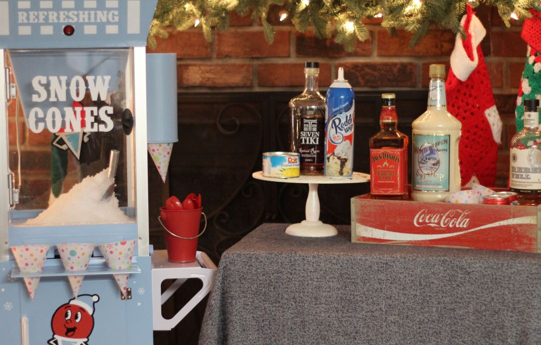 Everyday Party Magazine Holiday Cocktail Snow Cones