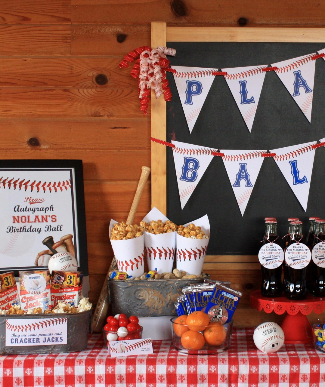 Everyday Party Magazine Let's Play Ball Printable Baseball Signs by Custom Mae'd