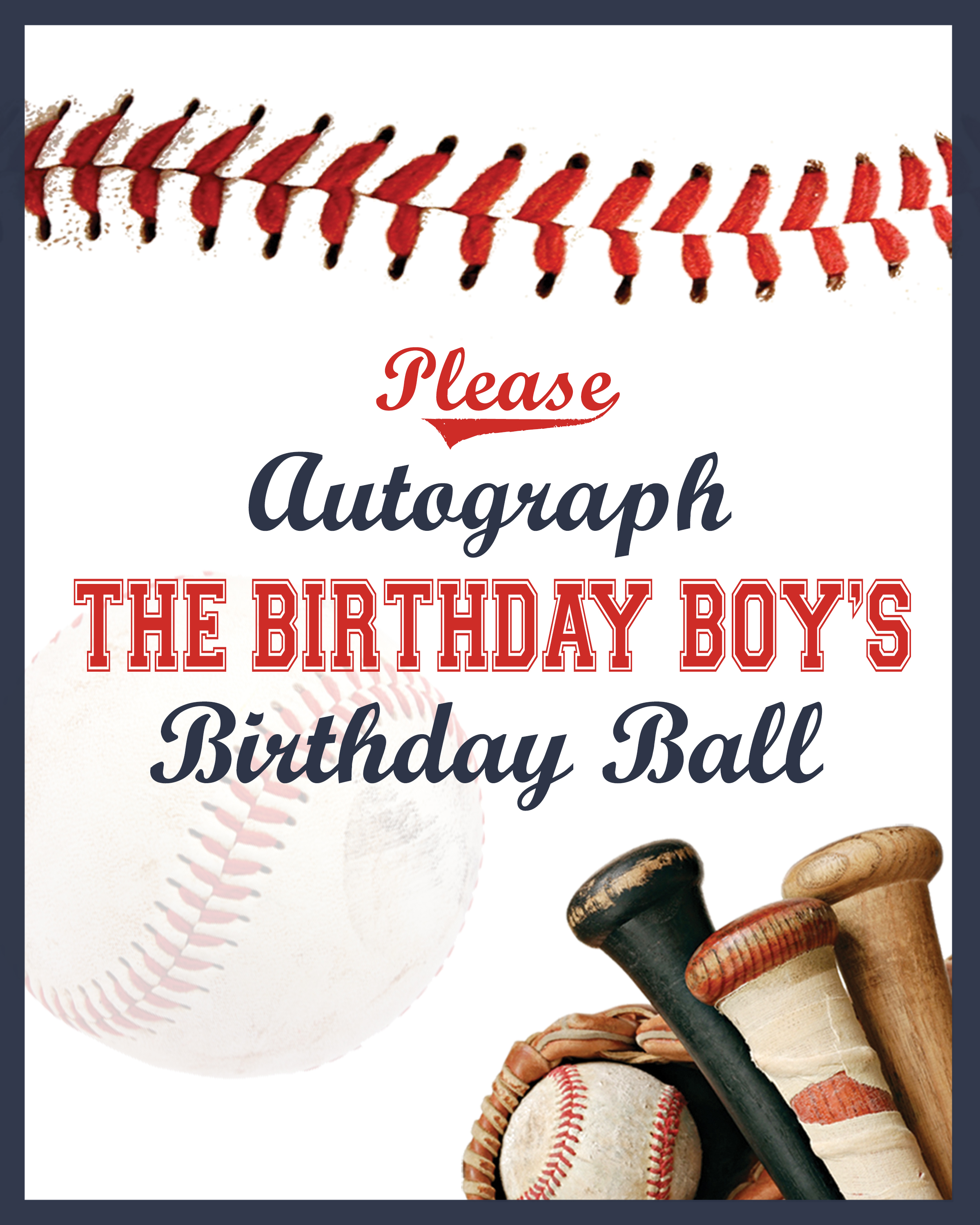 image about Party Signs Printable identified as Permits Participate in Ball Printable Baseball Signs or symptoms - Day-to-day Social gathering
