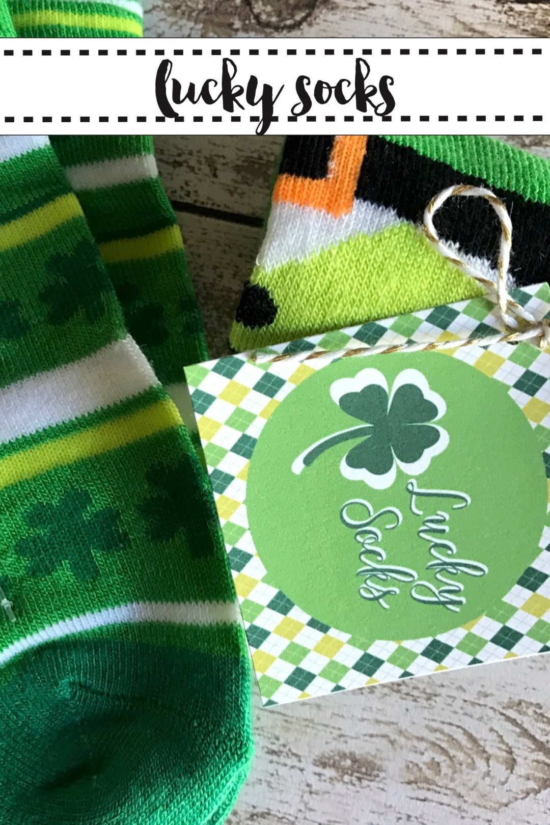 St. Patrick's Day Socks and Printable