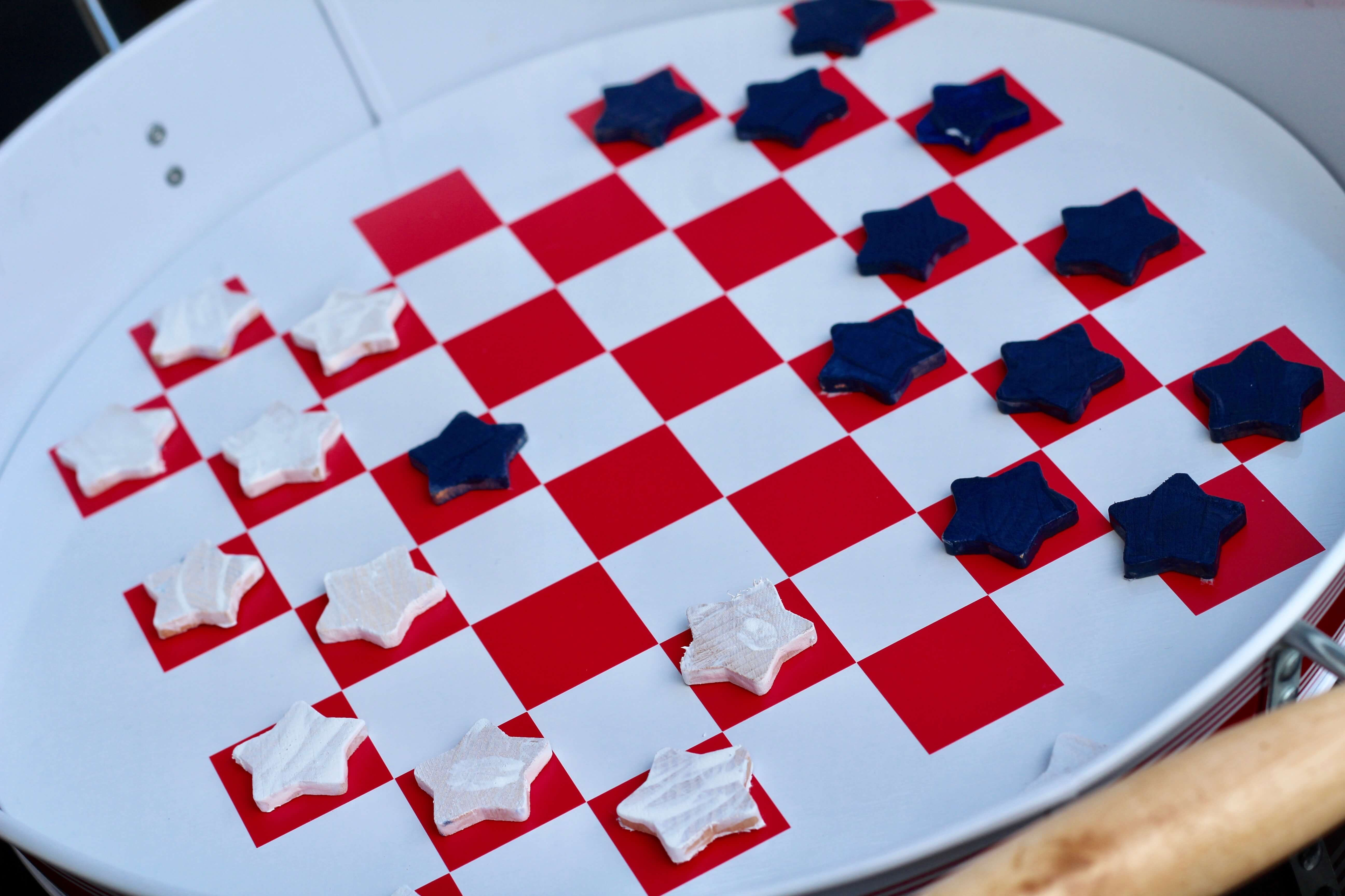 Backyard, Outdoor AC, DIY Games, Checkers, Cricut