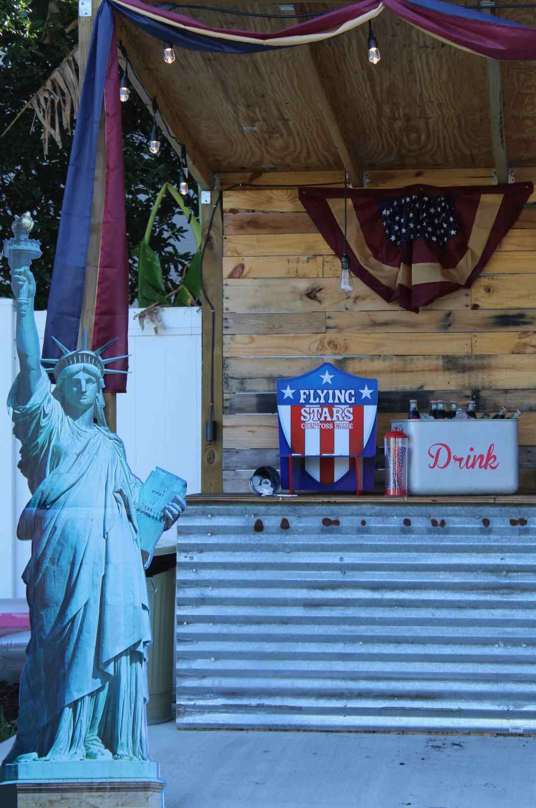 Fourth of July, Statue of Liberty, Oriental Trading Company, Backyard Party, Red White and Blue, Flag, Patriot