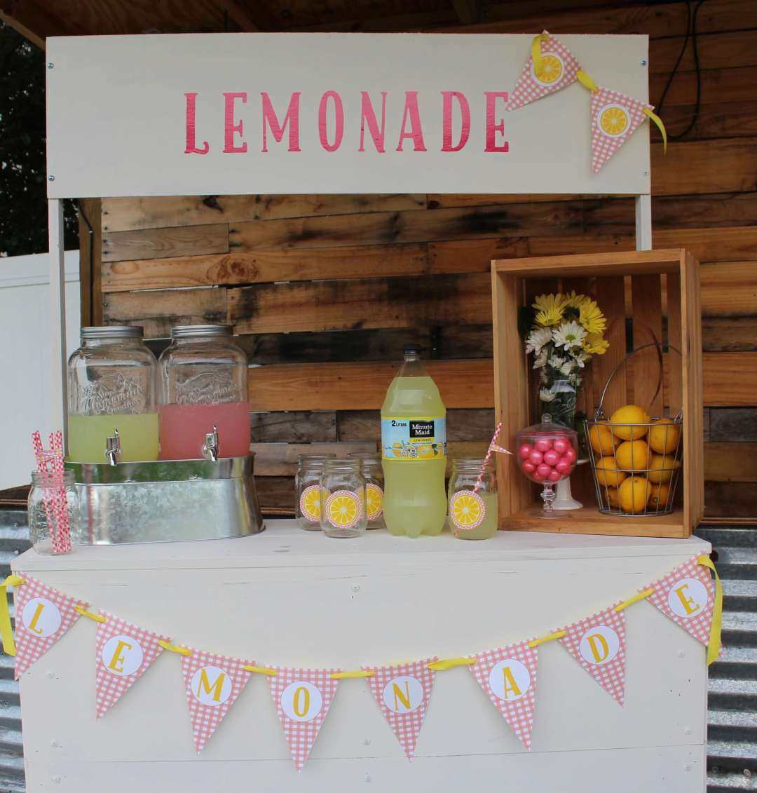 Lemonade Stand, Lemon Ice Recipe, Party, Free Printables, Lemonade, Everyday Party Magazine