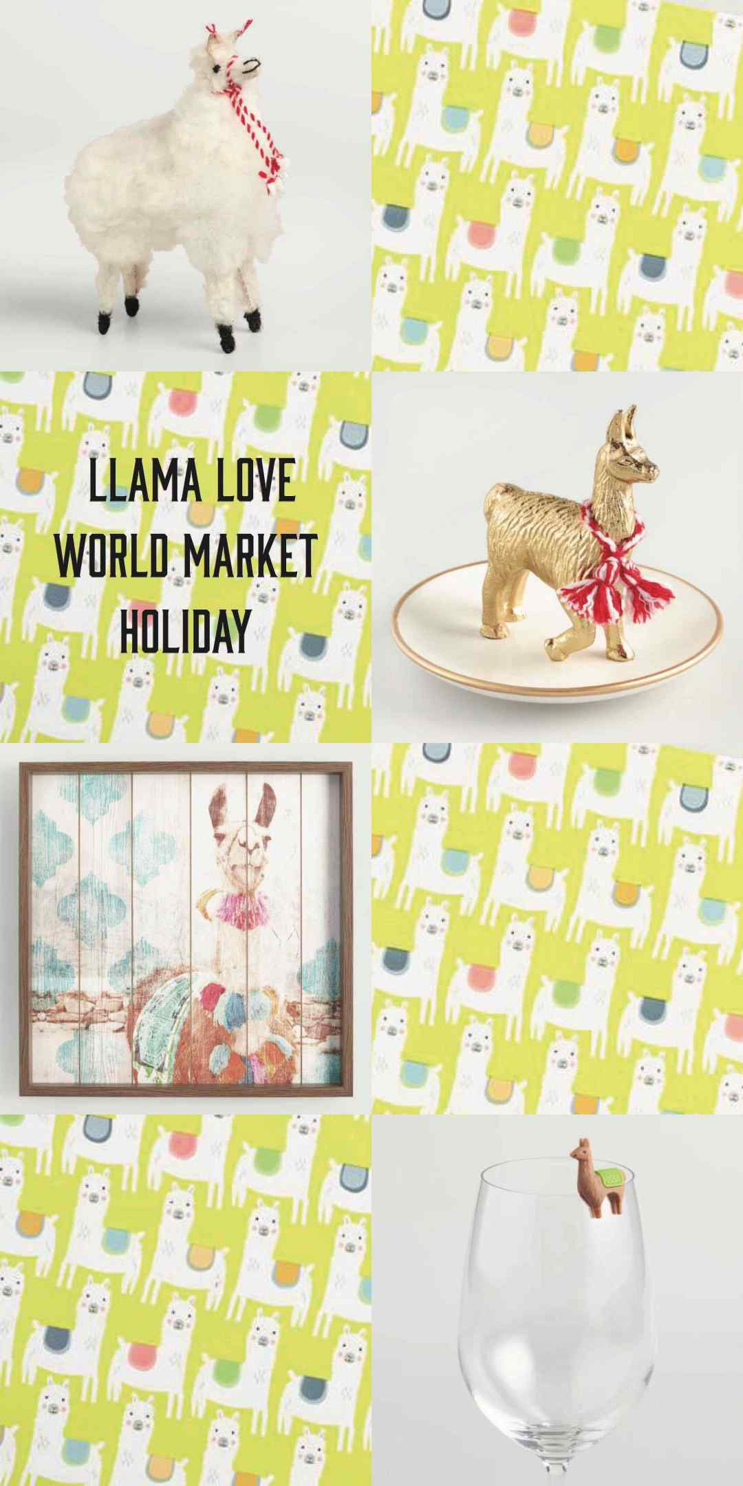 Llama Love World Market Holiday