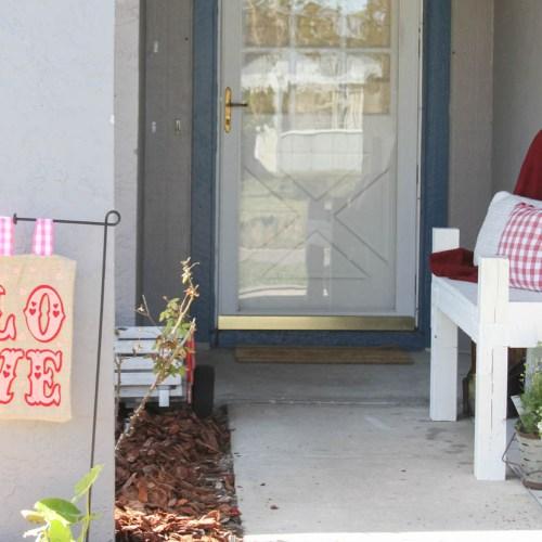 Everyday Party Magazine Simple Felt Garden Flag DIY