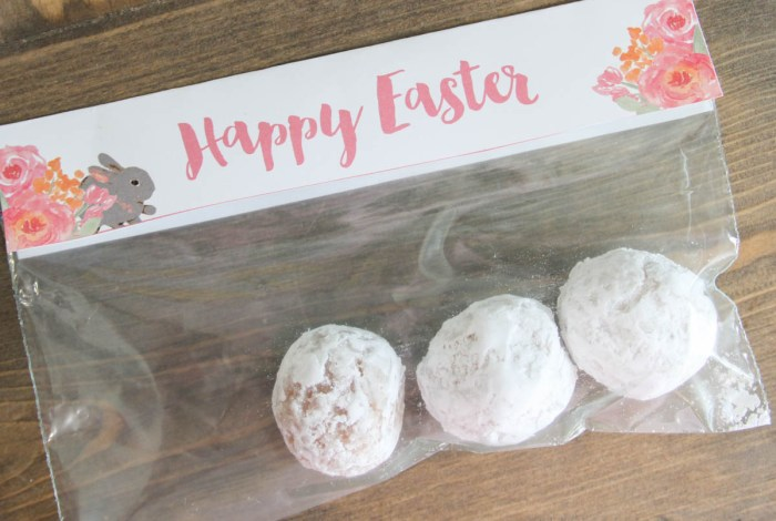 Everyday Party Magazine Happy Easter Printable Bag Toppers #Easter #CottonTale #Bunny #FreePrintable