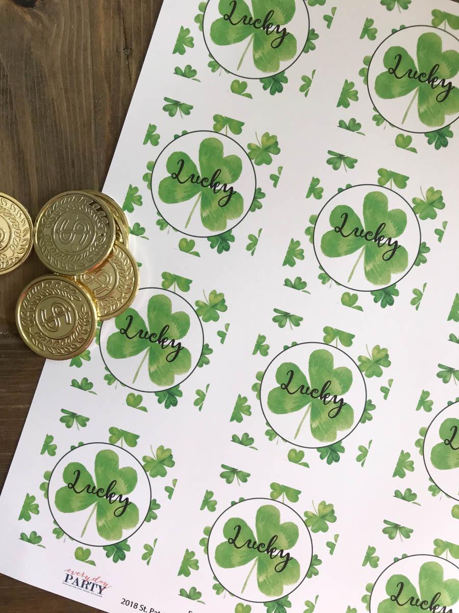 Everyday Party Magazine St. Patrick's Day Printable #StPatricksDay #FreePrintable #PartyCircles