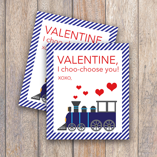 graphic about I Choo Choo Choose You Printable Card called Practice Valentine Printable Card - Each day Bash Journal