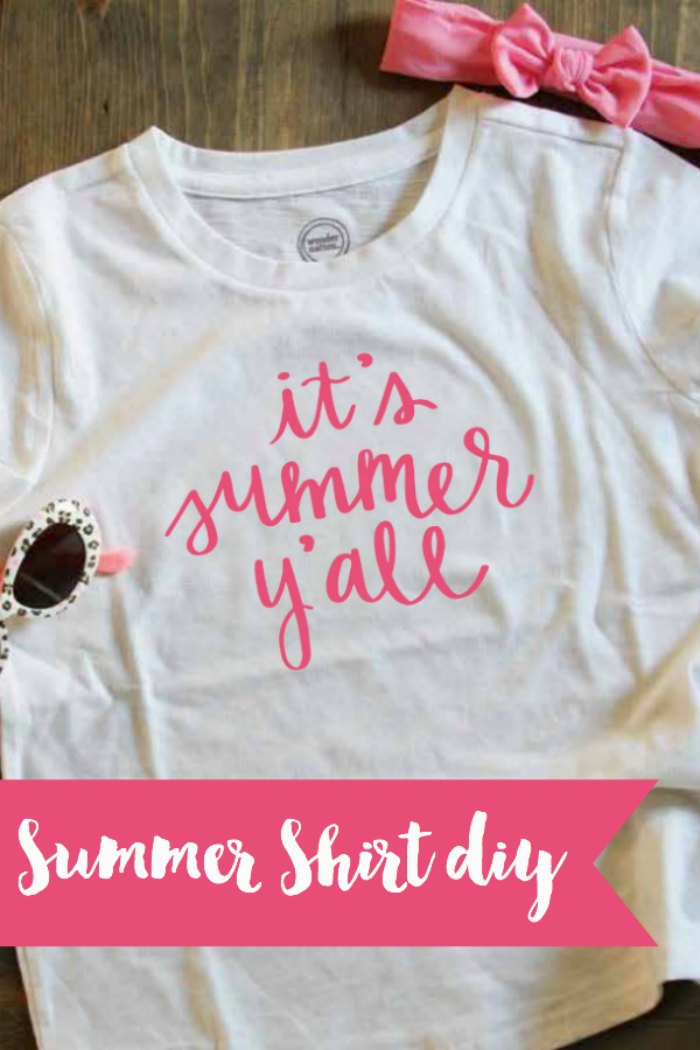 Everyday Party Magazine It's Summer Y'all #SVG #HandLettering #HandLettered #DIY #DIYShirt #CricutMade