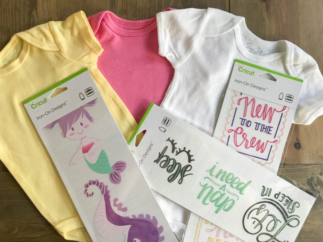 Simple Infant Onesies with Cricut Iron On Designs - Everyday
