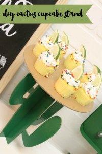 Cactus Cake Plate Margarita Cupcakes