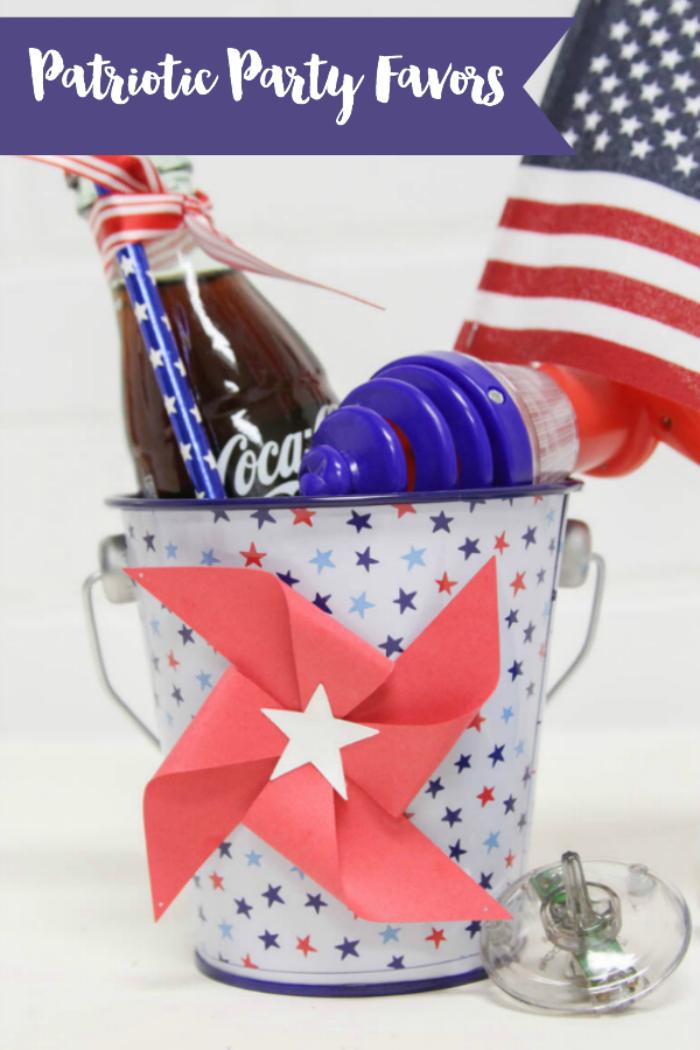 Everyday Party Magazine Patriotic Party Favors #PartyFavor #Patriotic #Americana #Xyron #Pinwheels