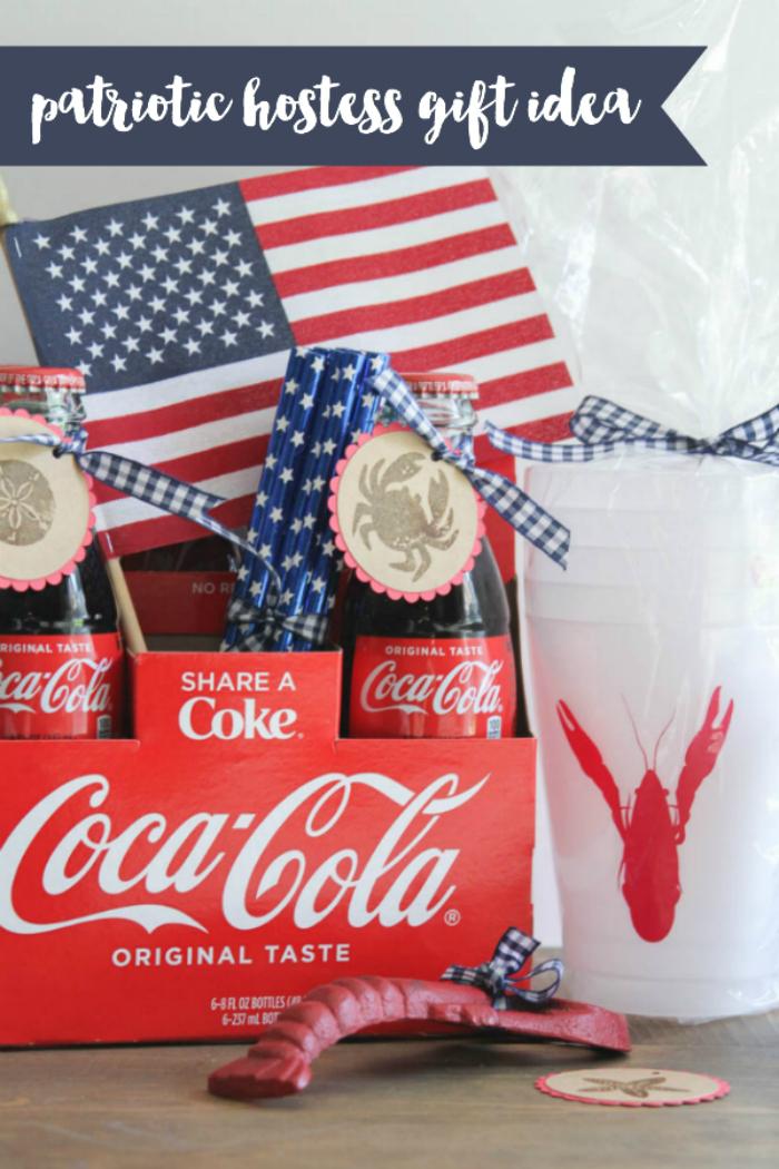 Everyday Party Magazine Patriotic Hostess Gift Idea #FourthOfJuly #Patriotic #CocaCola #SeaSide