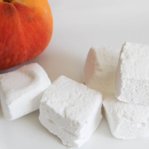 Everyday Party Magazine Peach Marshmallows #PeachRecipes #Peaches #MarshmallowRecipe #AltonBrown