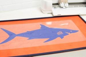 Everyday Party Magazine Shark Week Party Sign #SharkWeek #CricutMade #Cricut #DIY