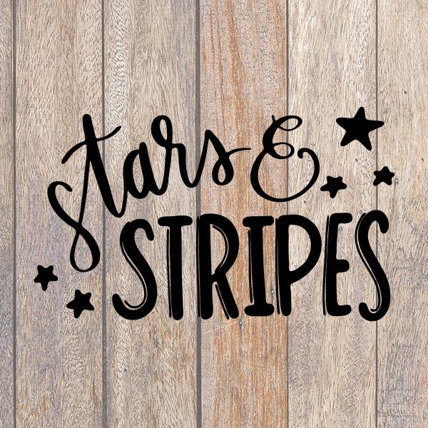 Stars and Stripes SVG Patriotic Cricut File