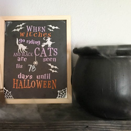 Everyday Party Magazine Halloween Countdown Calendar #Halloween #HalloweenDIY #HocusPocus