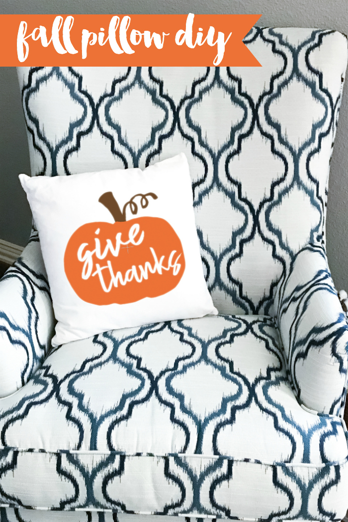 Create this darling Fall pillow for your home in just a few minutes for just a few dollars. #Fall #DIYFallDecor #FallDecor