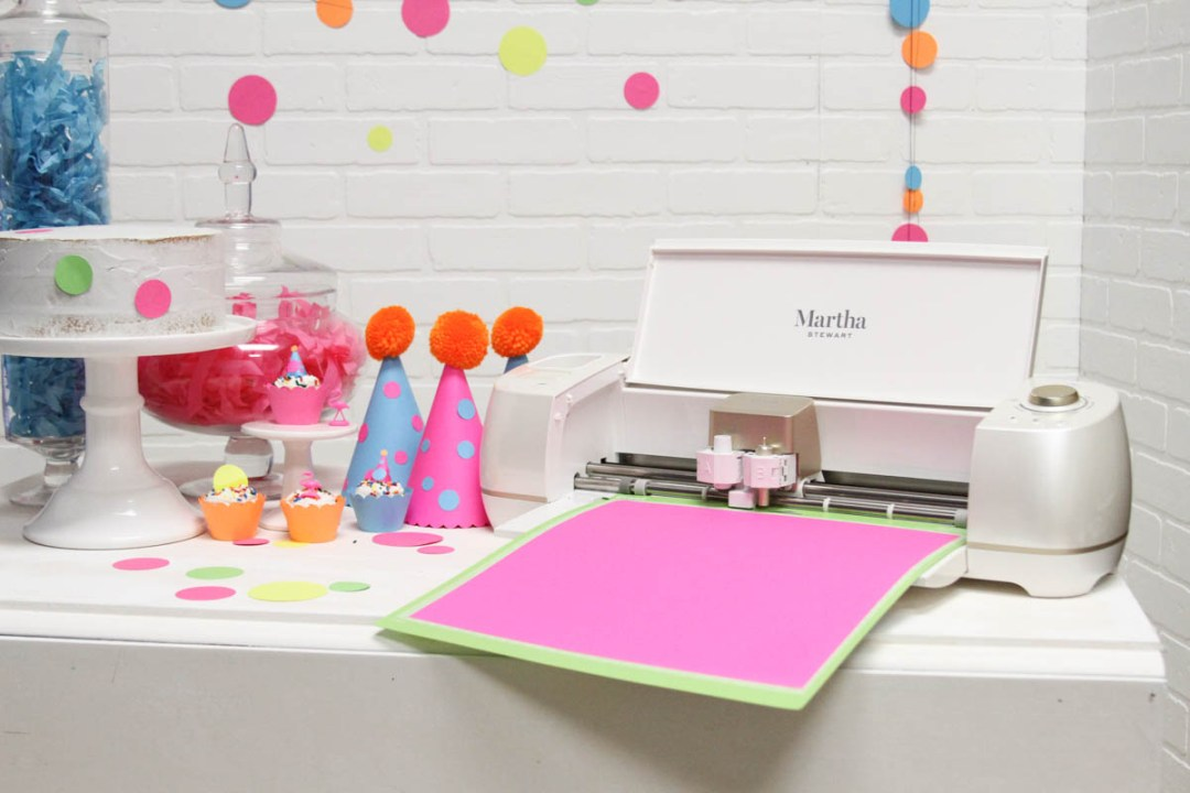 Martha Stewart Cricut Party Hats Polka Dot Banner