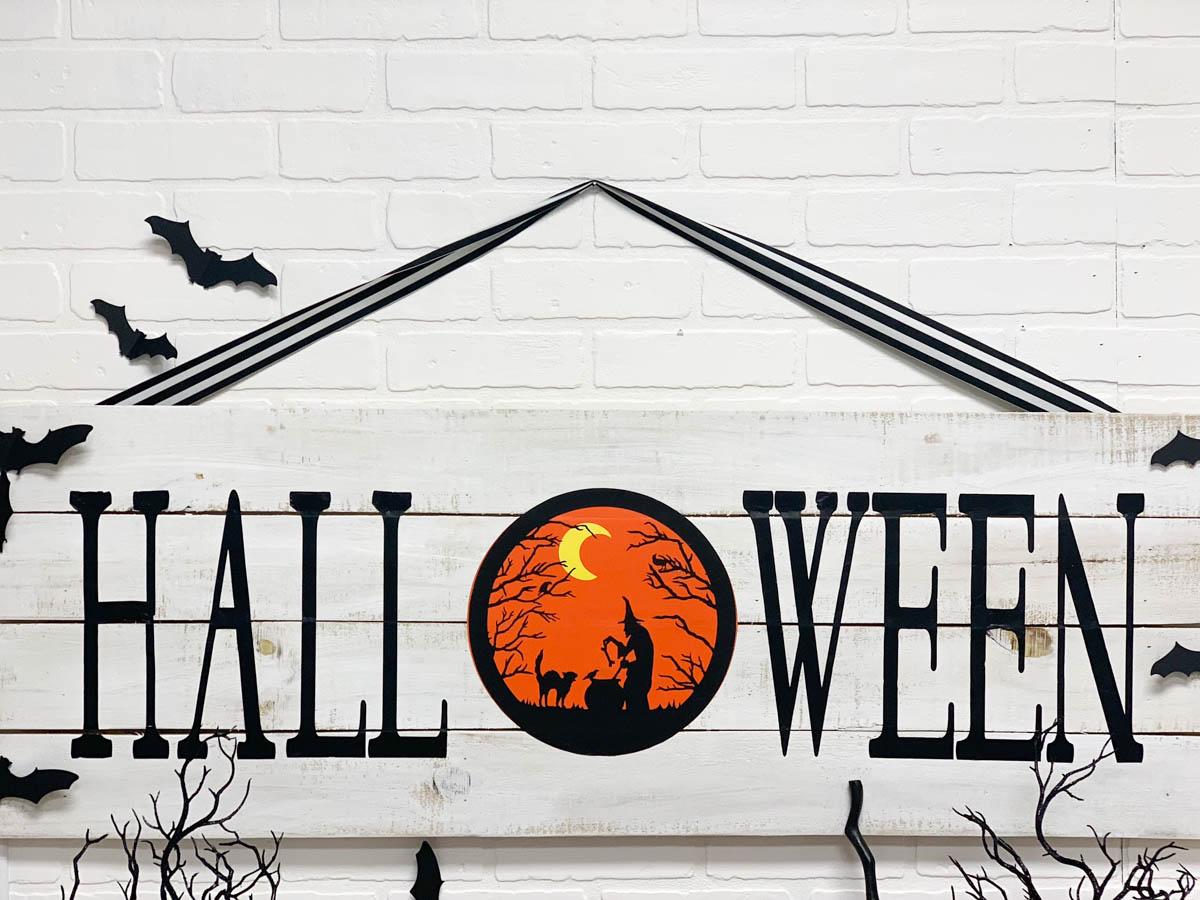 Rustic Wood Halloween Sign