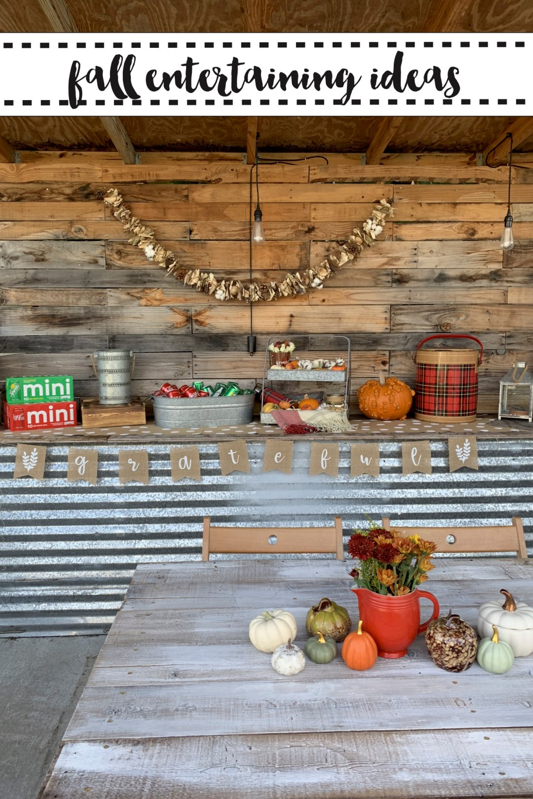Fall entertaining space
