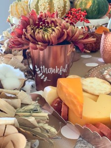 Fall Flowers and Cheese Tray