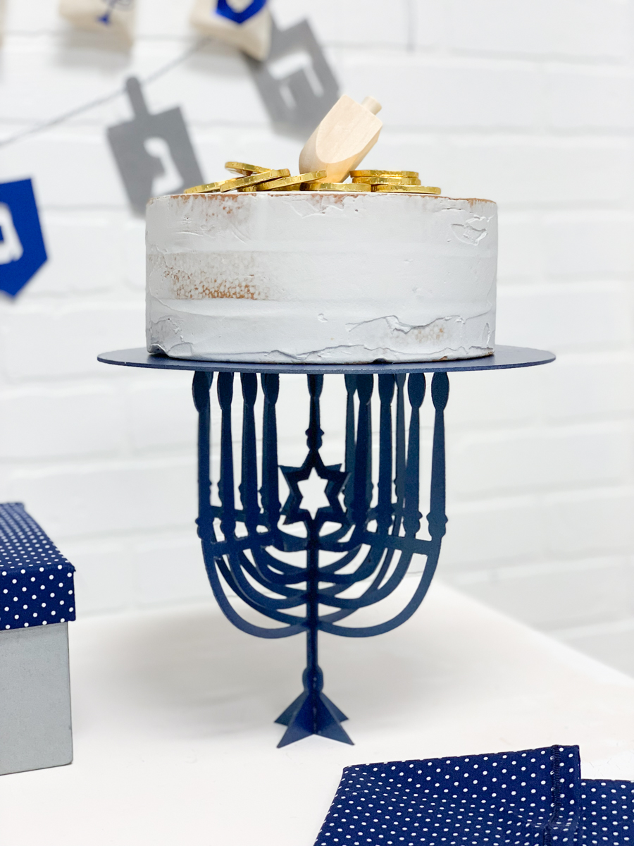 Menorah Cake Plate