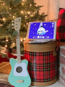 Guitar iPad plaid cooler Christmas tree