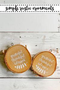 Wooden Disc Ornaments