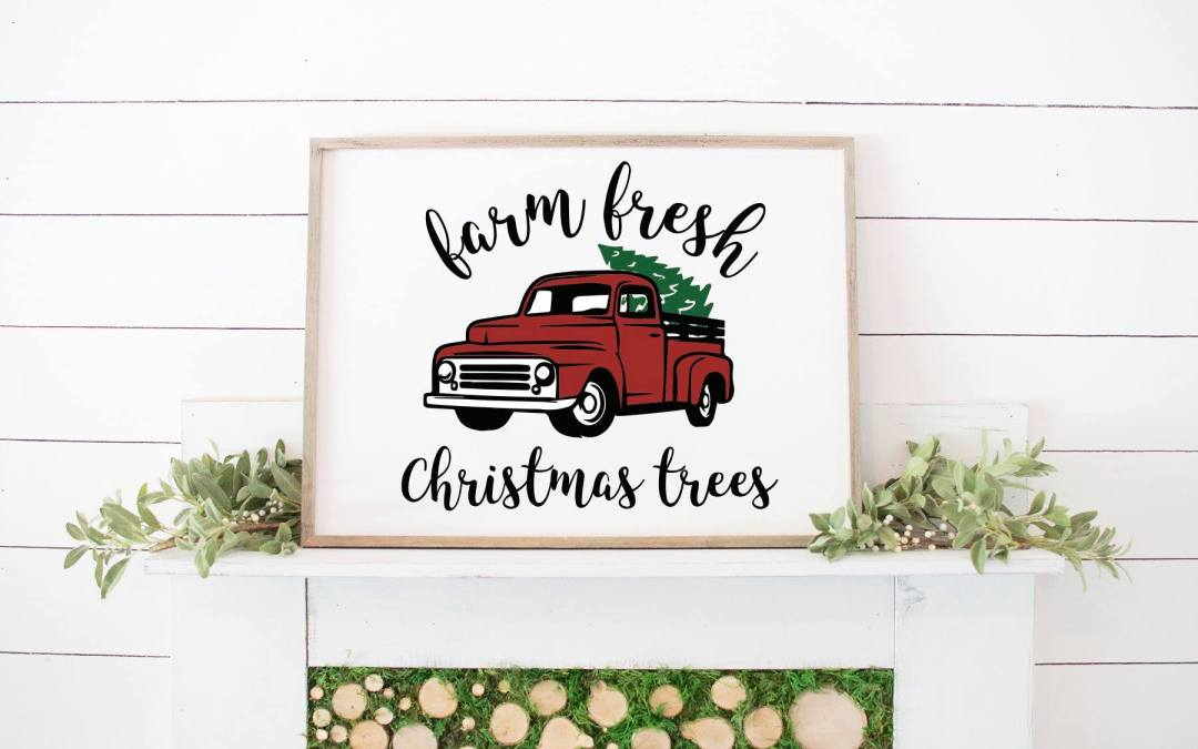 Farmhouse Style Mantel and Holiday Truck