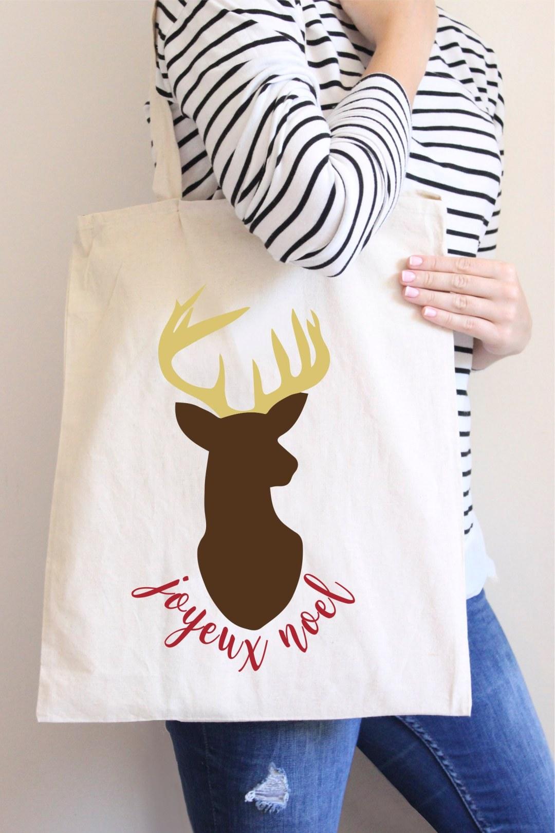 Joyeux Noel Holiday Tote Bag