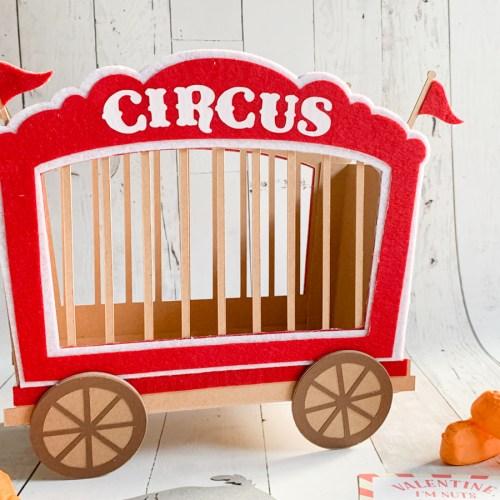 3D Circus Train Box