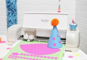 Martha Stewart Cricut Machine Party Hat