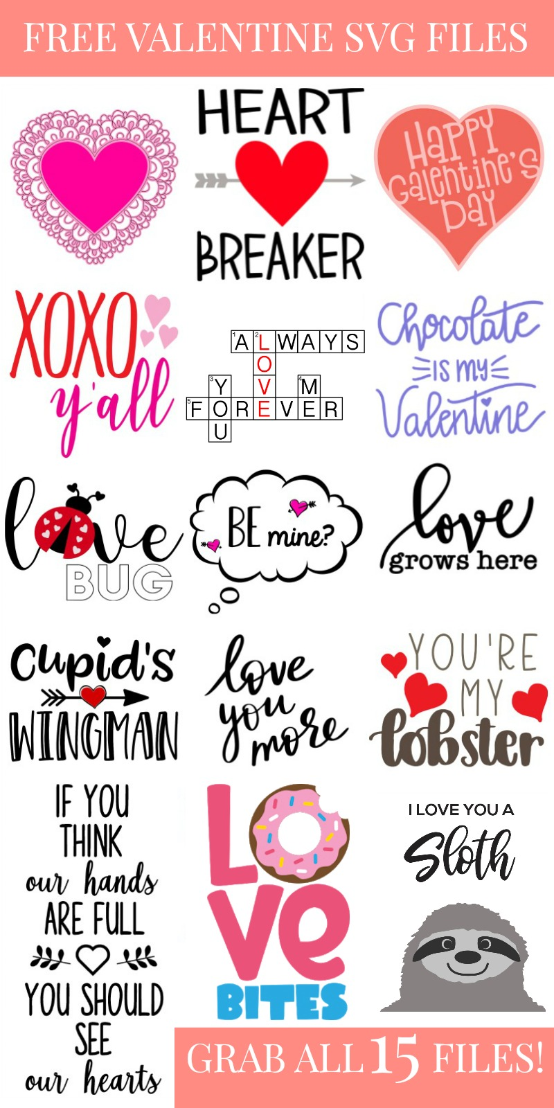 Valentine's Day SVG Files